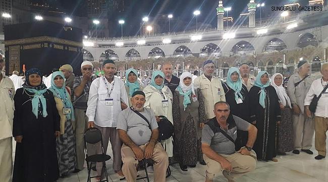 Aybike Turizm Hac kafilesi Sungurlu'ya döndü