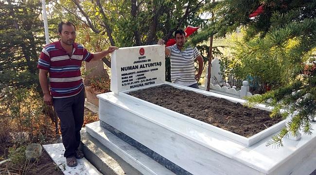 Şehidimiz Numan Altuntaş'ın mezarı yenilendi