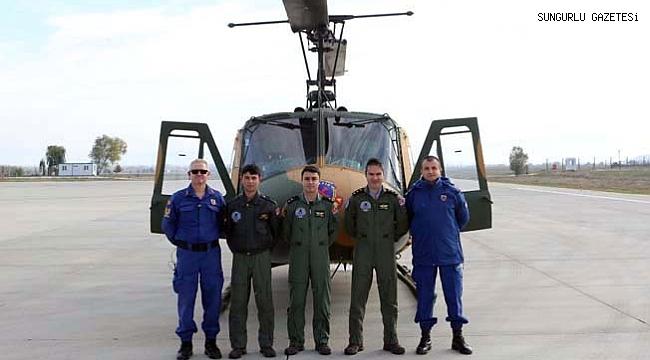 Jandarma helikopterle trafik denetimi yaptı