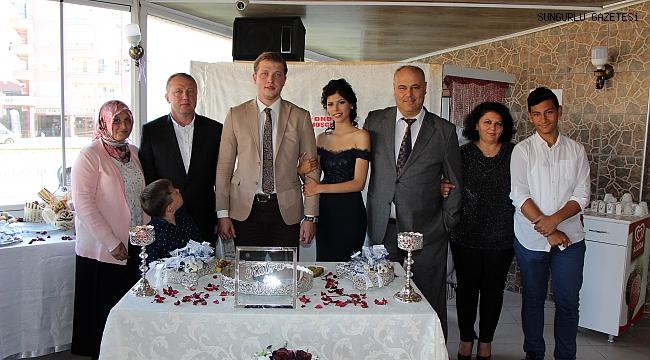 Kübra ve Onur çifti evliliğe ilk adımı attı