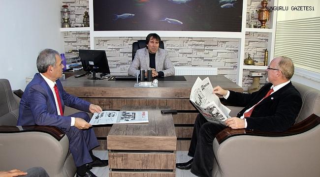 TGF Başkanı Karaca gazetemizi ziyaret etti