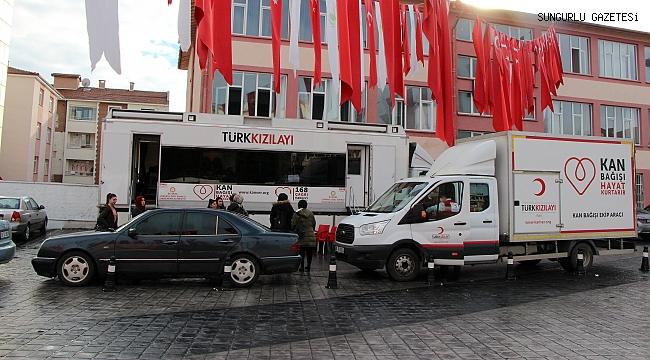 Kızılay, Sungurlu'da 238 ünite kan bağışı aldı