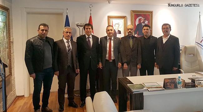 TSO heyeti TKDK Başkanı Kalender'i ziyaret etti