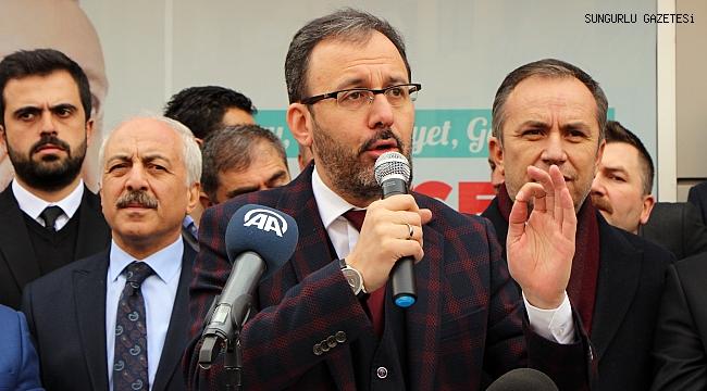 Gençlik ve Spor Bakanından Sungurlu'ya 3 müjde