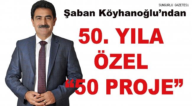 """Şaban Köyhanoğlu'ndan 50. yıla özel """"50 proje"""""""