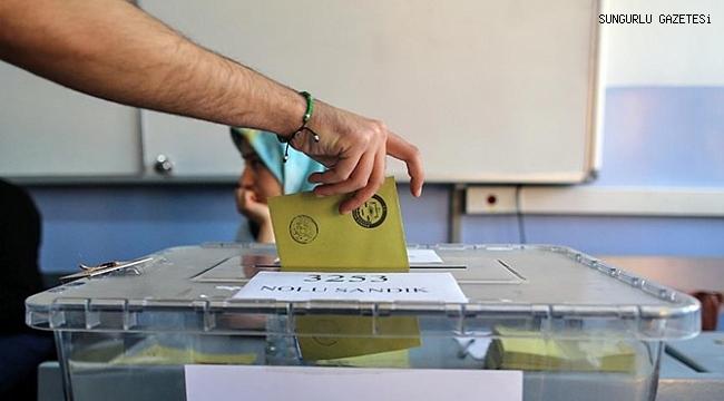 Sungurlu'da 37 bin 695 seçmen oy kullanacak
