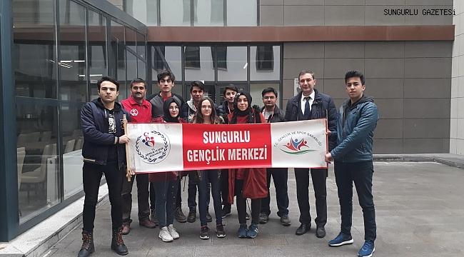 Sungurlulu gençler bilgi yarışmasında birinci oldu