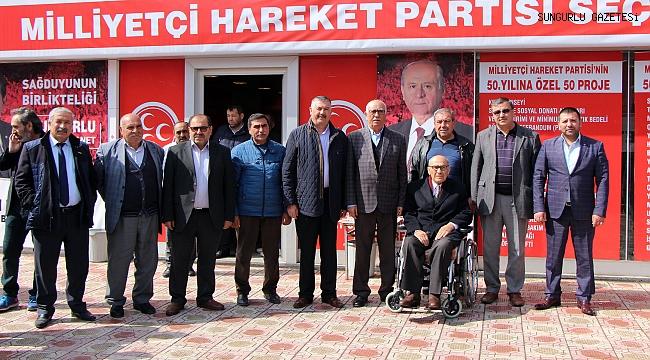 Muharrem Şemsek, MHP seçim bürosunu ziyaret etti
