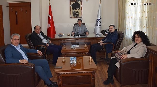 Rumi Bekiroğlu, TSO Başkanı Behiç Akkaş'ı ziyaret etti