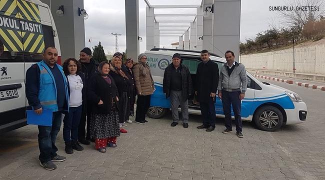 Sungurlu'da 12 hasta sandığa götürüldü