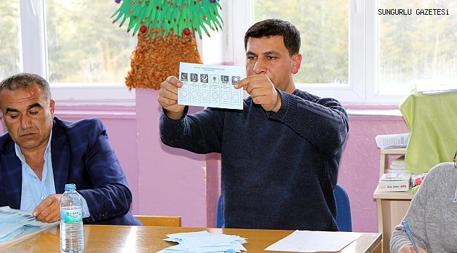 Sungurlu'da seçim sonuçları