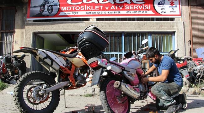Tamir edemeyeceği motosiklet yok!