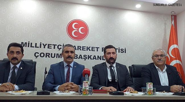 Hemşehrimiz Agah Karapıçak MHP Çorum İl Başkanı oldu