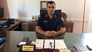 İlçe Jandarma Komutanı Sedat Özmen göreve başladı