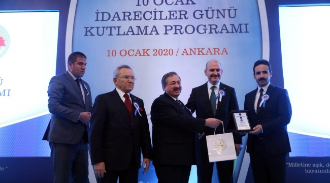 "KAYMAKAM ATAMAN'A ""ÜSTÜN HİZMET"" ÖDÜLÜ"