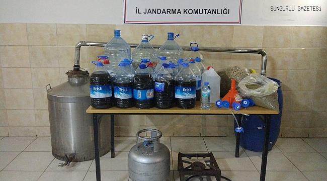 JANDARMA 200 LİTRE KAÇAK ALKOL ELE GEÇİRDİ