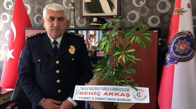 BAŞKAN BEHİÇ AKKAŞ, POLİSLERİN GÜNÜNÜ KUTLADI