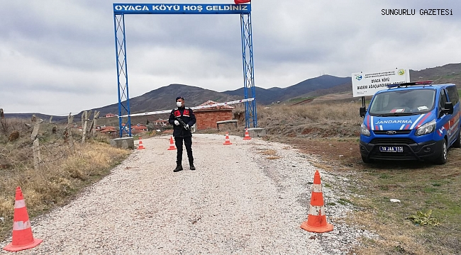 OYACA KÖYÜ KARANTİNA ALTINDA