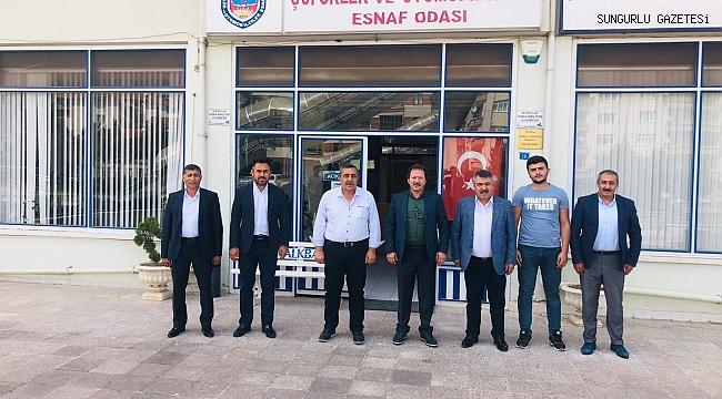 MEHMET YİĞİNER, İSMAİL POZAN'I ZİYARET ETTİ