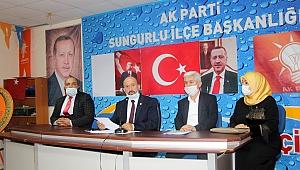 """""""SUNGURLUMUZA SÖZÜMÜZ OLAN TESİSLER MUTLAKA YAPILACAK"""""""