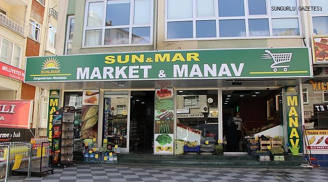 SUN-MAR MARKET VE MANAV HİZMETE GİRDİ