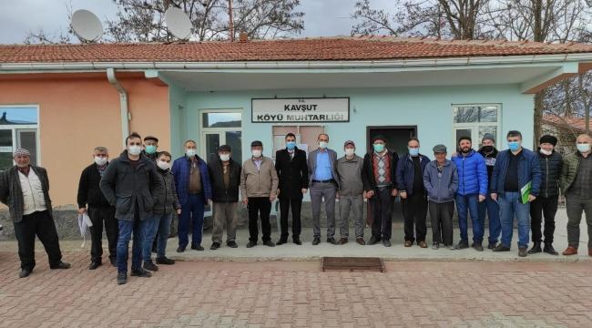 Kavşut köyünde çiftçiler yağlık ayçiçeği ekimi yapacak