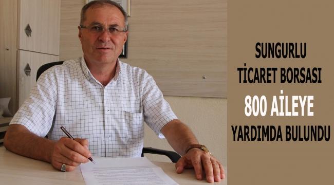 TİCARET BORSASI 800 AİLEYE YARDIMDA BULUNDU