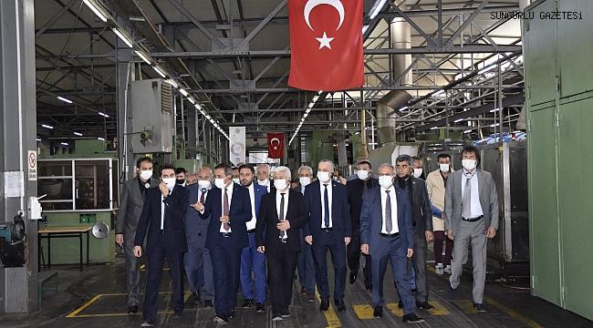 MKE GAZİ FİŞEK FABRİKASINDA İNCELEMELERDE BULUNDULAR